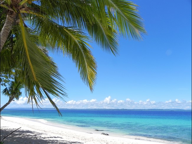A white sandy beach in the Philippines