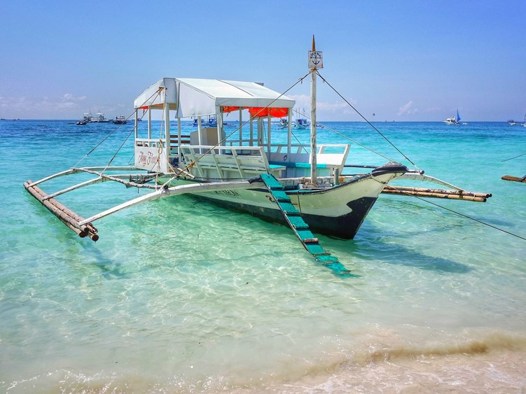 A boat in Boracay in the Philippines