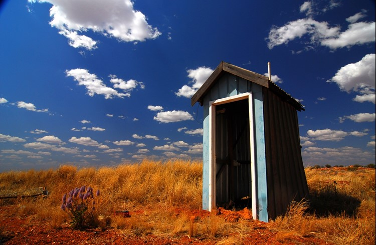 A toilet in the outback of Australia