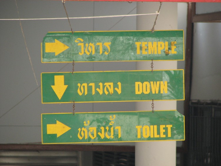 Sign showing directions in Thailand