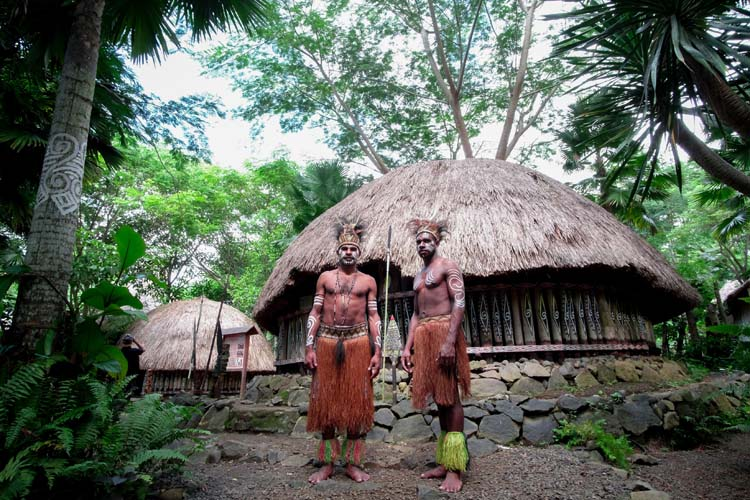 Mentawei tribes people in Indonesia